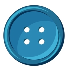 Button icon cartoon style vector