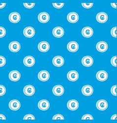 Coins cruzeiro pattern seamless blue vector