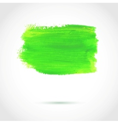 Colorful green abstract paint banner vector