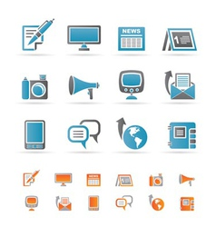 communication channels and social media icons vector image