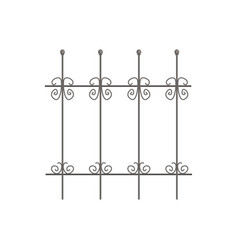 Decorative iron fence for park or garden vector
