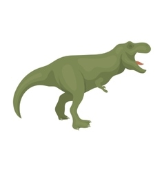 Dinosaur tyrannosaurus icon in cartoon style vector