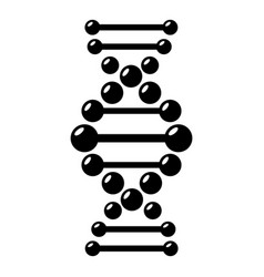 dna icon simple black style vector image