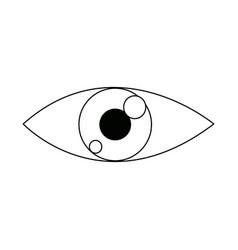Eye look vision optic surveillance concept vector