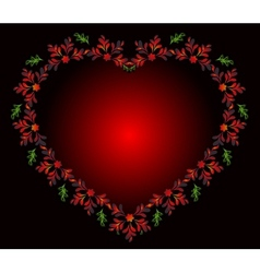 Heart of flowers for Valentines Day EPS10 vector image vector image
