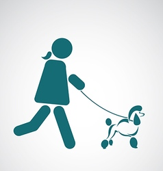 Image of an walking dog vector