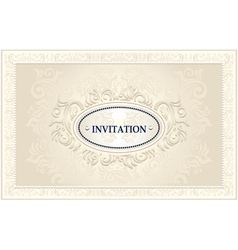 Invitation or wedding frame with floral background vector