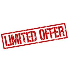 Limited offer stamp vector