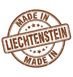 made in liechtenstein brown grunge round stamp vector image vector image