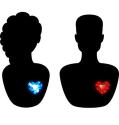 Man and woman silhouette vector