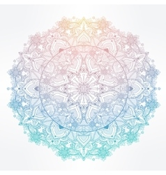 Ornate paisley round lace mandala vector