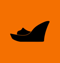 platform shoe icon vector image