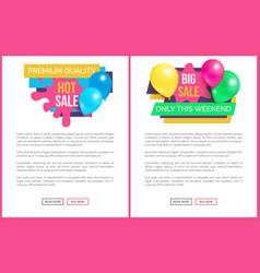 premium quality total sale price promo sticker set vector image