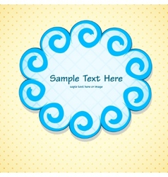 Pretty frame vector image vector image