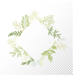 rhombys greenery floral frame vector image vector image
