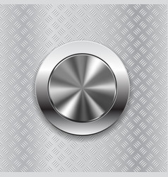 round switch knob button on metallic non slip vector image vector image