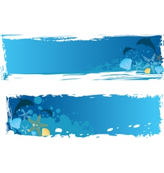 sea banner vector image