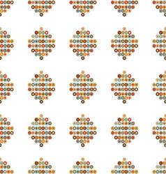 seamless ornament retro contours of circles vector image vector image