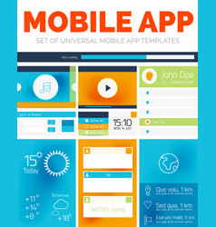 Set of mobile app layout templates vector