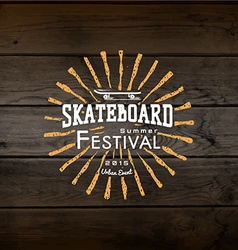 Skateboard badges logos and labels for any use vector image