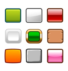 Square buttons back vector