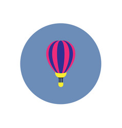 Stylish icon in color circle air balloon vector