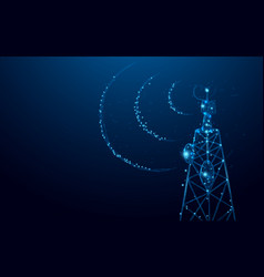Telecommunications signal transmitter radio tower vector