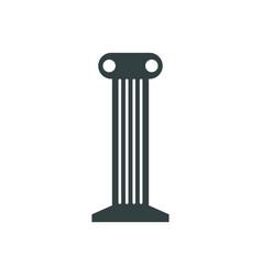 Temple column icon vector