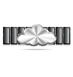 Three Servers Cloud vector image vector image