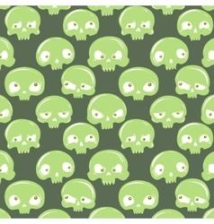 green skulls pattern vector image