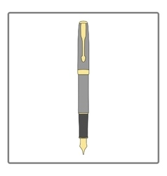 Fountain pen icon in flat design stationery theme vector