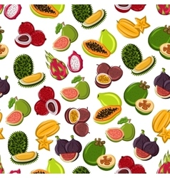 Tropical sweet fruits seamless pattern vector