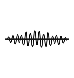 Sound wave icon simple style vector image