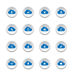 Cloud computing buttons vector image