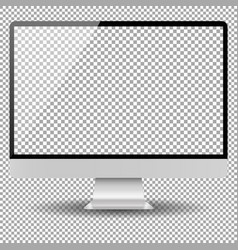 Blank monitor screen computer mockup vector