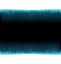 Blue sound wave on white  EPS10 vector image