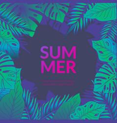 Summer party jungle flyer vector
