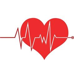 Heart beat monitor vector image