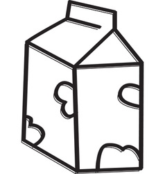 Milk carton icon vector