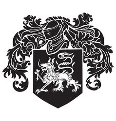 Heraldic silhouette no2 vector