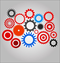 Mechanical gear set vector