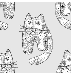 Seamless pattern od cats vector