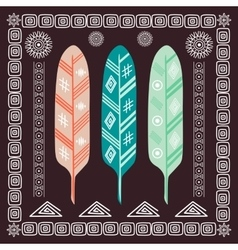 Design with indian feathers vector