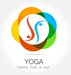 Yoga health body soul vector