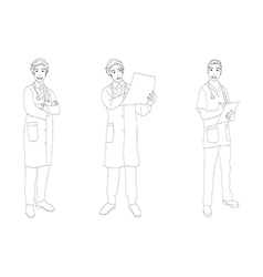 Medical staff man full body vector