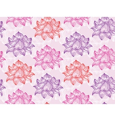 seamless pattern with lotus flowers - vector image