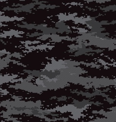 Pixel camouflage stealth black seamless pattern vector