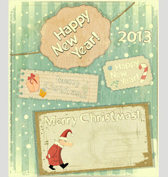 New Year postcard in Retro style vector image
