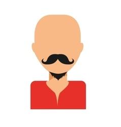 Mustache guy icon vector