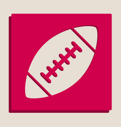 American simple football ball grayscale vector